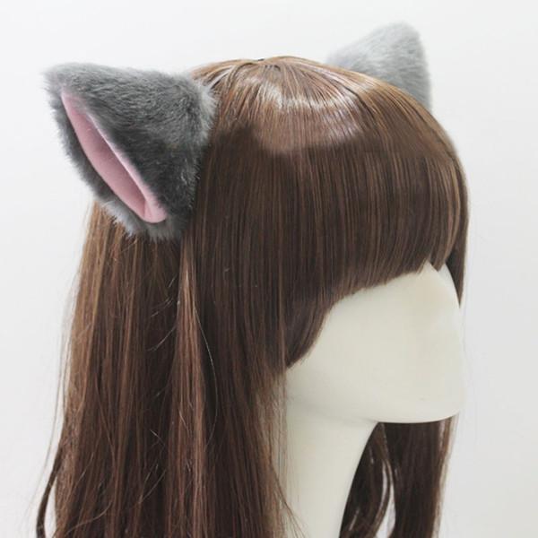 Nette nachgemachte Tierkatzen-Fuchs-lange Pelz-Ohr-Form-Haar-Klipp-Partei Headwear Großverkauf