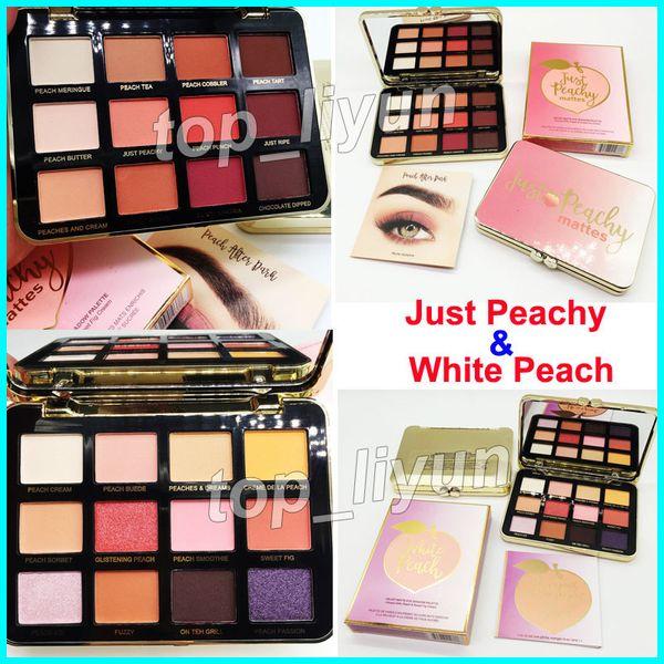 Makeup faced white peach ju t peachy matte eye hadow palette 12 color eye hadow velvet himmer glitter eye hadow palette dhl