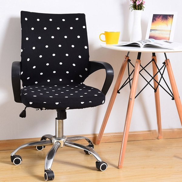 Admirable Office Chair Slipcover Computer Chairs Seat Cover Elastic Office Armchair Slipcover For Chair Rotating Lift Chair Covers Yz0019 White Dining Chair Gmtry Best Dining Table And Chair Ideas Images Gmtryco