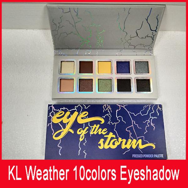 La collection météo Calme avant la tempête et l'œil de la tempête Palette d'ombres à paupières 10 Palette de couleurs dhl Livraison gratuite