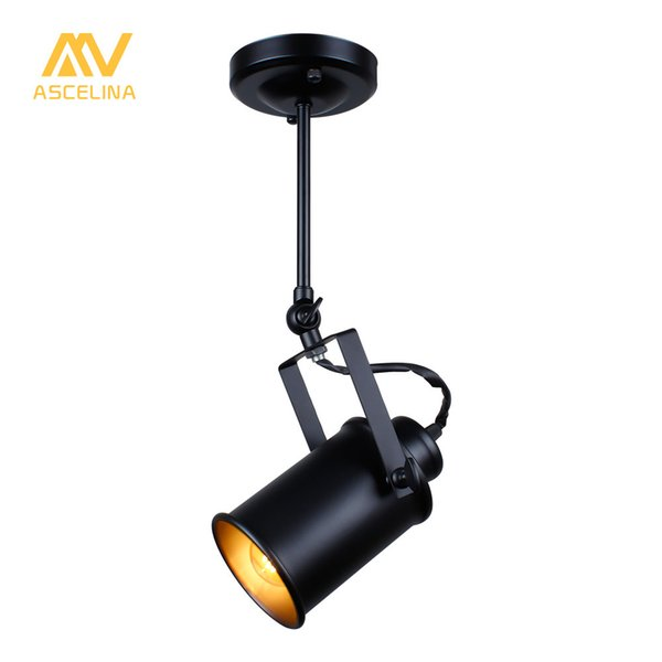 ASCELINA LED Spotlights American Vintage Loft Pendant Light Iron led lamp E27 spotlight Mercantile Lighting for Bar/Cafe