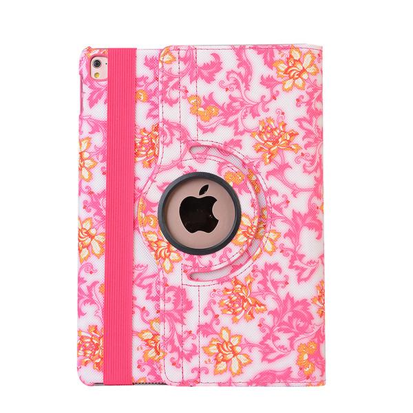 Flower Print PU Leather Cover for Apple iPad Mini 4 360 Rotating Smart Cover for Mini 3 2 mini 1+Pen
