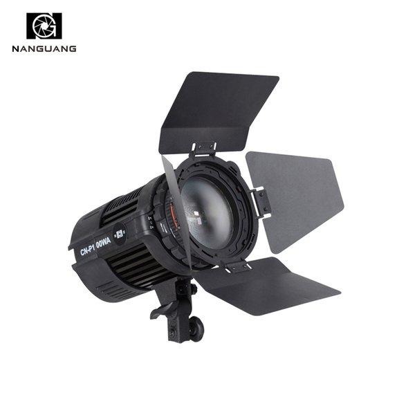 vente en gros 100W LED Studio lumière CN-P100WA projecteur de Fresnel pour la photographie vidéo Studio + Barndoor