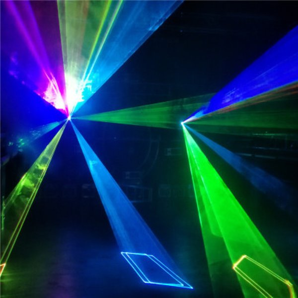 Analog diode laser 3.5 watt rgb 3d animtion lighting projector tect stage laser Red Green Laser Blue LED Professional Projector Sound Active