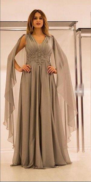 Stylish Dubai Arabia Cheap Mother of the Bride Dresses Chiffon Lace Floor Length A Line Dresses Evening Wear Custom Made Evening Dress