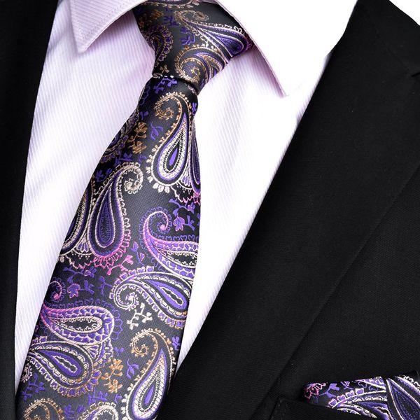 Herrenkleid Europa und Amerika Paisley Square mit hoher Dichte und Krawattenanzug 8CM