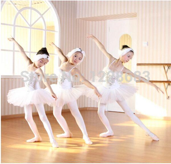 Hot Sale White Swan Lake Professional Ballet Tutu Dancewear Girls Dance Costume Performance Ballet Dress For Children