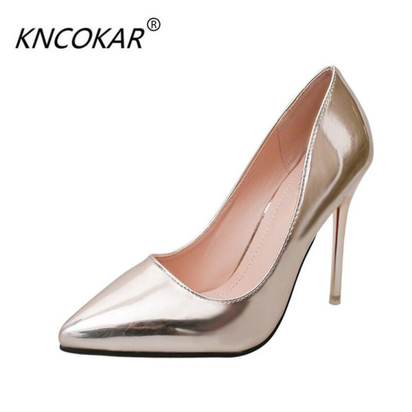 Ultra high heels fine spring 2017 tines with sexy night light mouth joker 35-40 silver fashionsilver fashion and shallow women
