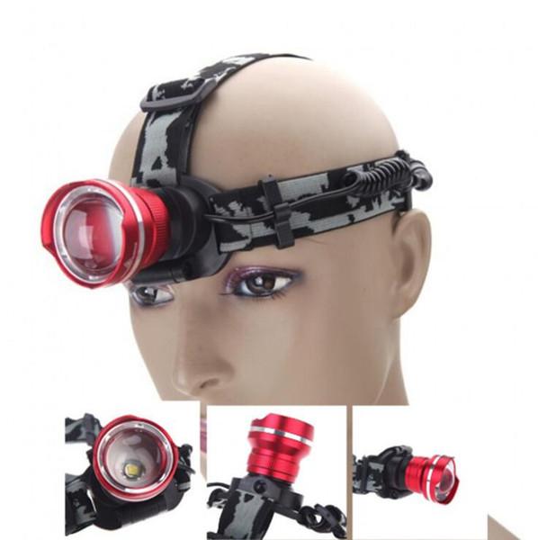 Fari a LED Potenti fari anteriori a luce variabile Fari a batteria a 4 modalità Fari per campeggio Escursionismo Arrampicata OOA4452