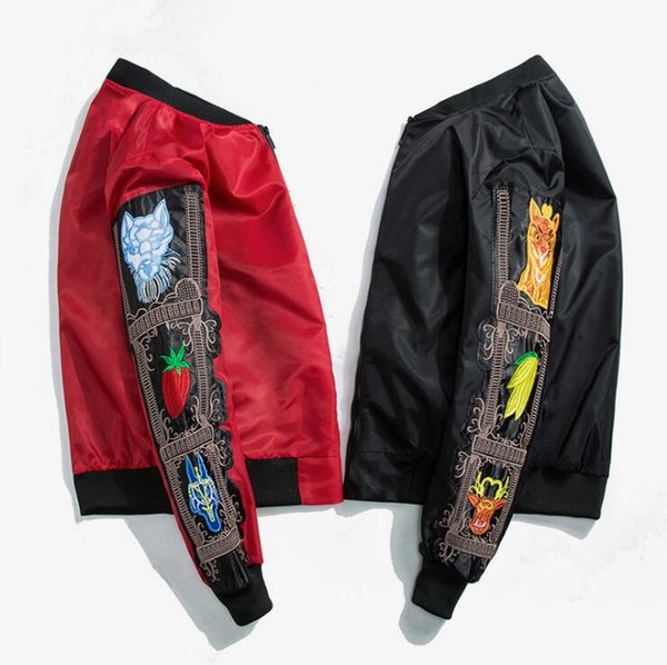 European and American street hip-hop justin bieber baseball shirts air force pilot jacket men's tide brand Fashion Harajuku skateboard ja