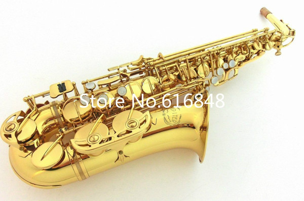 Alta qualità Alto E-flat JUPITER JAS-567 Eb Tune Saxophone Ottone dorato placcato strumenti concerto Sax con bocchino, caso