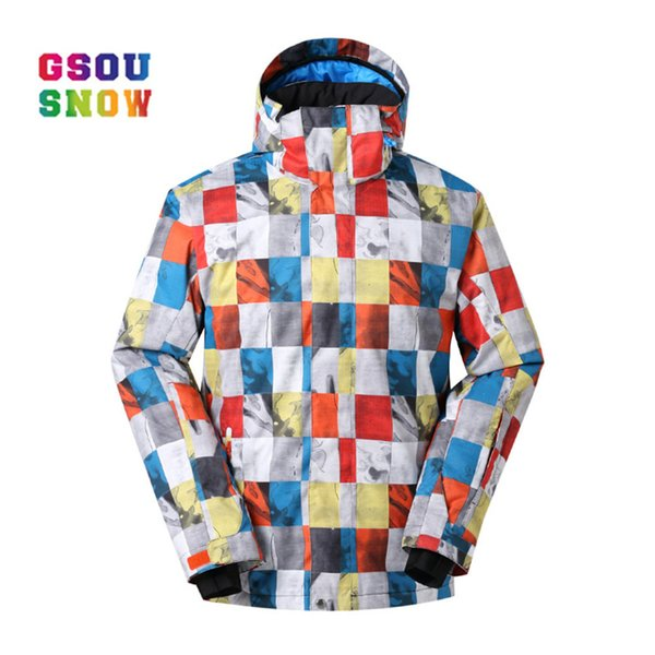 GSOU SNOW Brand Men Ski Jackets Windproof Waterproof Snowboard Jacket Men Outdoor Winter Breathable Sportswear High Quality