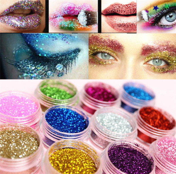 Pro Eye Shadow Makeup Cosmetic Shimmer Powder Pigment Mineral Glitter Spangle Eyeshadow 16 Colors drop shipping