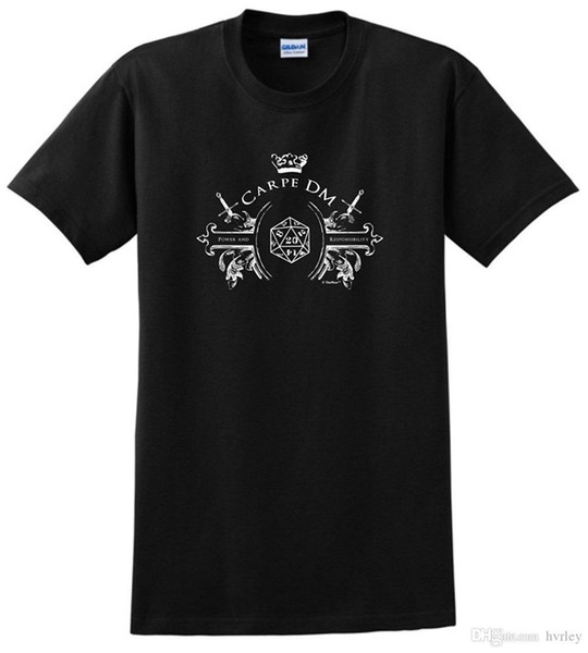Fashion Funny Tops Tees Funny Gamer Gifts D20 Dice Carpe DM T-Shirt Summer sportwear casual t-shirt