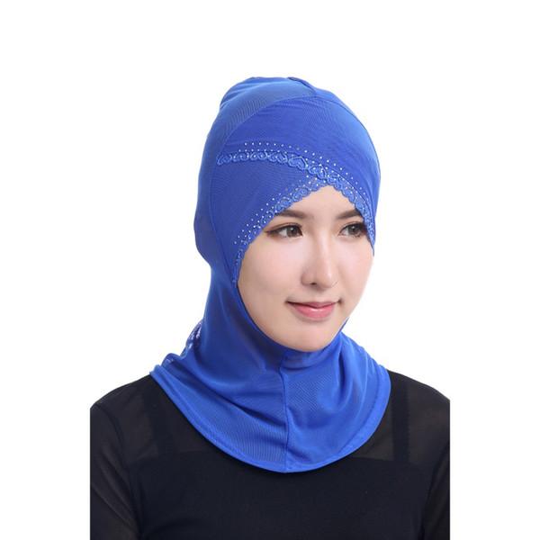 Mode Femmes Écharpe Hijabs Islamique Couverture Du Cou Bonnet Couverture Complète Intérieure Hijab Cap Dame Musulman Chapellerie Pour Chemo 2017