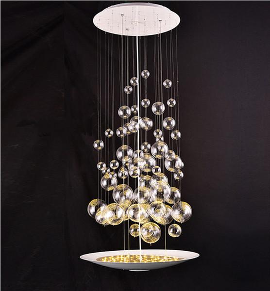 Modern Glass Bubble Balls Led Suspension Pendant Lamp Clear Light Fixtures For Parlor Study Bedroom Home Lighting B048 Led Pendant Lights Drum Pendant