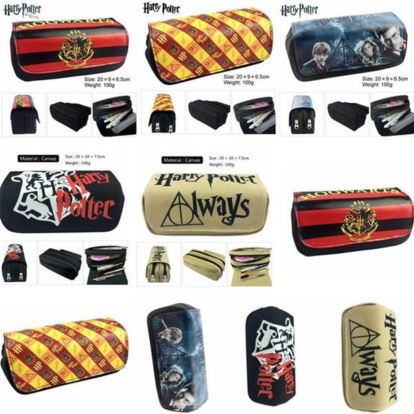 Harry potter crayon stylo sac portefeuille portefeuille bande dessinée crayon cas étudiants papeterie sac de rangement école fournitures de bureau pièce Puerse 70pcs T1I898