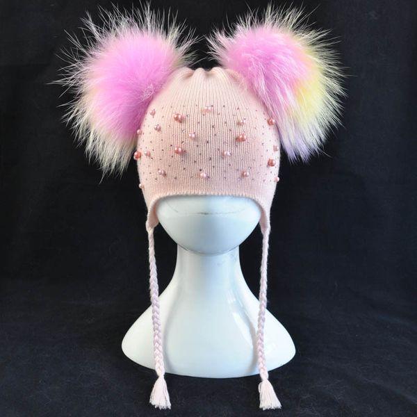Pink multi fur