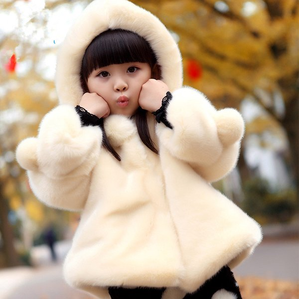 top popular Children Girls Winter Coats Fashion Kids Clothes Solid Thicken Warm Hooded Outerwear Faux Fur Coats for Teenage Girls 2-14 years 2019
