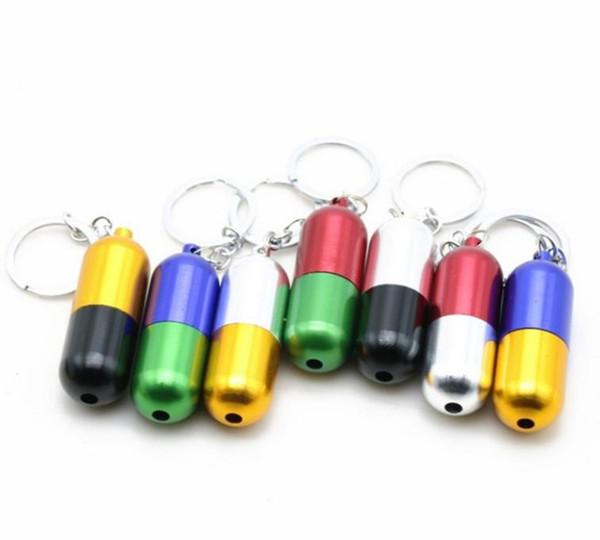 Set da fumo per pipa portatile in alluminio multicolor con tubo telescopico in alluminio