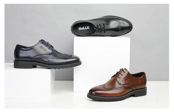 2018 New Mens boots, Men's Casual Classic Engraving Brogue