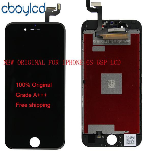 (100% originale) Not China Copy LCD originale + Retroilluminazione originale + Display LCD originale IC Touch Screen Digitizer per IPhone 6S 6S Plus
