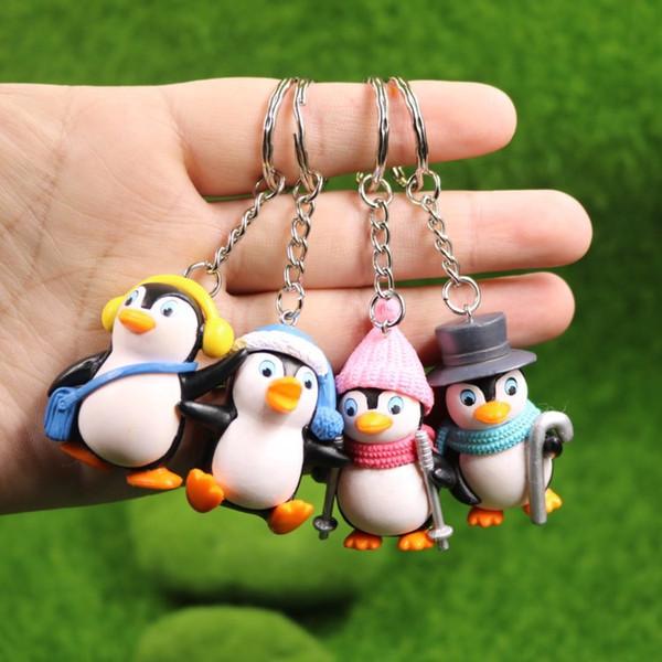 Reizende Pinguin-Puppen-Schlüsselkette Weihnachtsschlüsselring-Telefon-Anhänger-Geschenk-Beutel Keychain Schlüsselring-Ausgangsdekoration-Parteibevorzugung AAA1053