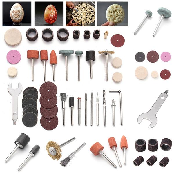 """40Pcs Rotary Power Tool Set For 1/8"""" Shank Sanding Polish Cutting Accessory Bit Set Mini Drill Kit Abrasive Tool"""