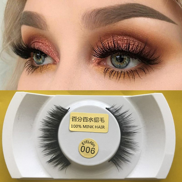 premium quality 100% handmade 3D mink hair false eyelashes natural long thick soft for beauty makeup extension