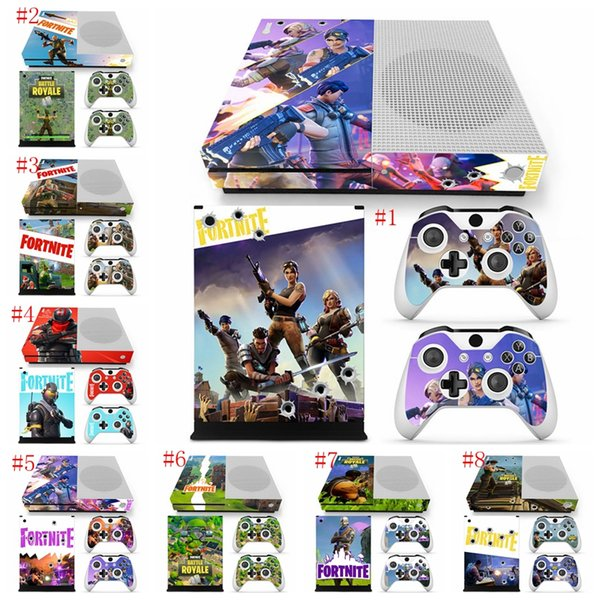 Fortnite Battle Royale Protective Decals For Microsoft Xbox One S Console And 2 Controllers Cover Skin Stickers Kids Gift Ljjm259 Babykeepsakes Boys