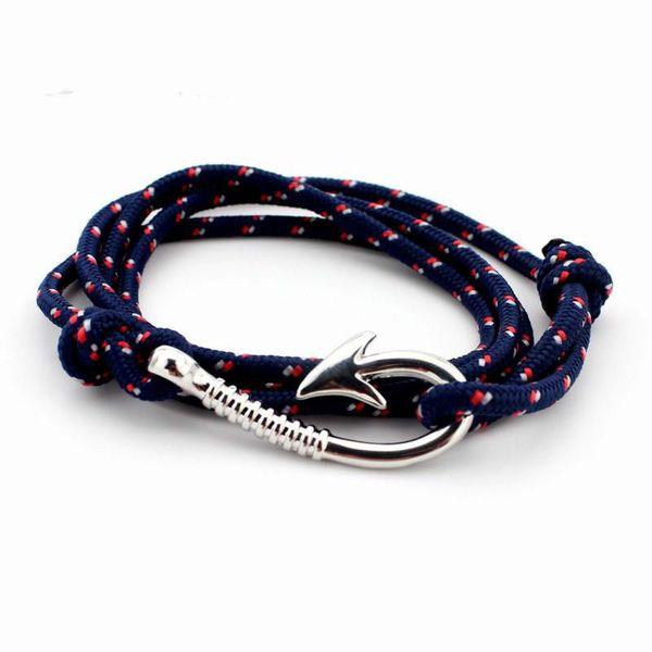 Agosto pulsera de cuerda multicapa Pulseras hombre Tom esperanza náutica ancla marinero ancla pulseras hombres fiendship regalos KKA2016