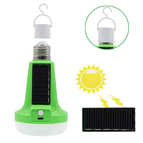 top popular Edison2011 12W 18W Solar Powered LED Flashlight Solar Bulb USB Rechargeable Tent Light Emergency Lamp for Outdoor Indoor 2021