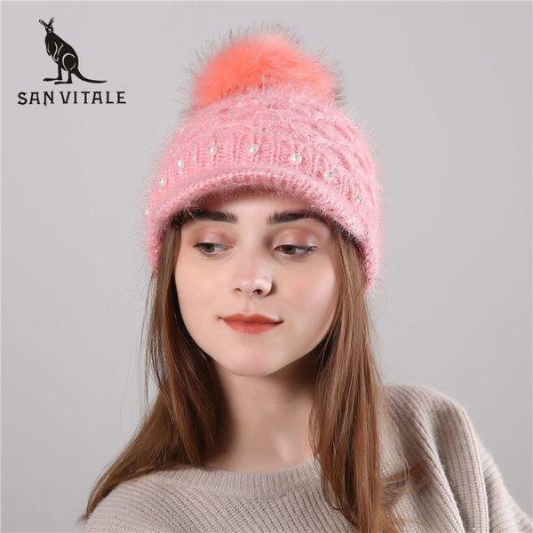 skullies beanies hats women hats winter warm cashmere beanie skull plaid fur ski mask for dress fur pompom designer