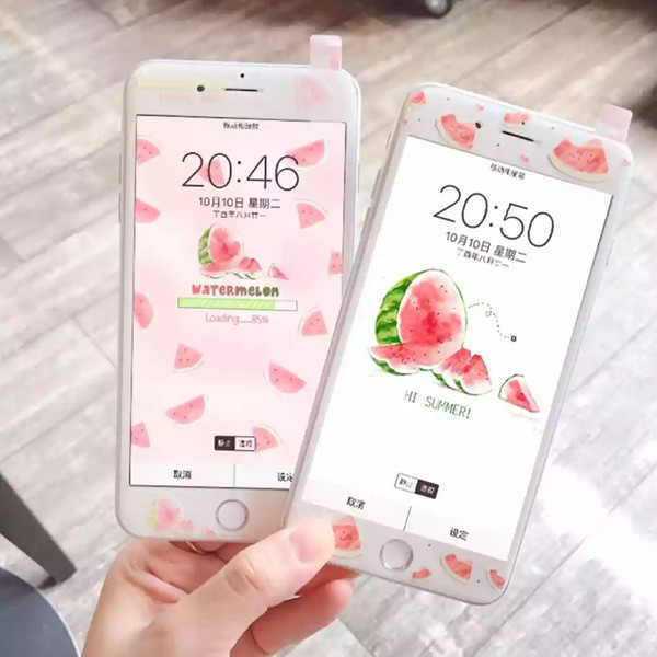 Cute Fruit Screen Protector Colorful Shock-resistant Tempered Glass for iPhone6