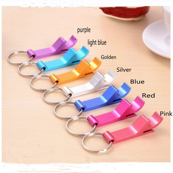 New metal aluminum alloy key chain key chain with beer bottle opener custom personalized laser engraving free opener