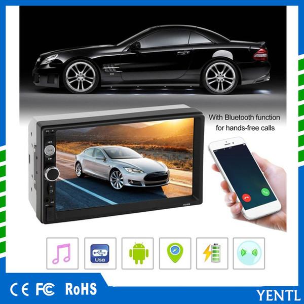 Frete grátis 7 polegada Car DVD MP5 Multimedia Player 2 Rádio Din Tela de Toque do Bluetooth FM USB AUX Suporte Top Venda MP5 Player de Áudio estéreo