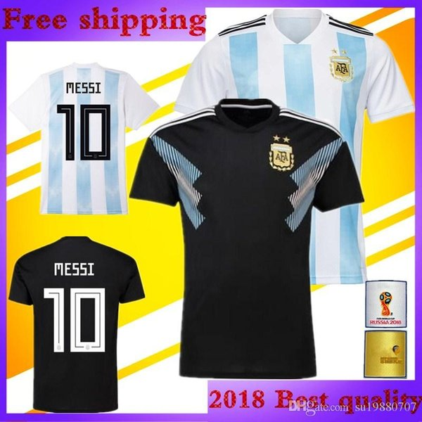 2018 world cup Argentina DI MARIA Soccer Jersey 2019 national team Home Blue  and white away black OTAMEND DYBALA ICARDI Messi football shirt f07d9a9c5