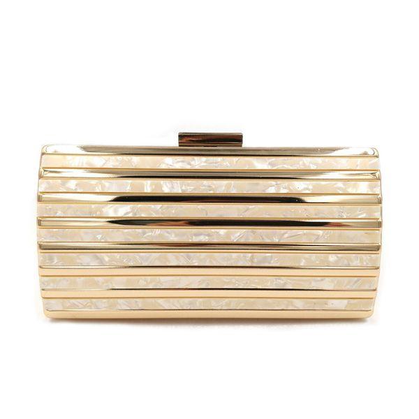 Yens 2018 Women Messenger Bag Elegant Acrylic and Metal Clutch Brand Design Classic Evening Party Bag Cute Wallet Mni hard Box Patchwork