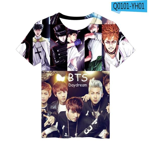 BTS Anime 3D T Shirt Men Women Hip Hop Streetwear Tops Tees Casual Funny Graphic Tshirt Plus Size Harajuku Oversized Tshirt