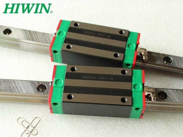 2pcs HIWIN Linear Guide HGR20 L2000mm rail +4pcs HGH20CA blocks for cnc