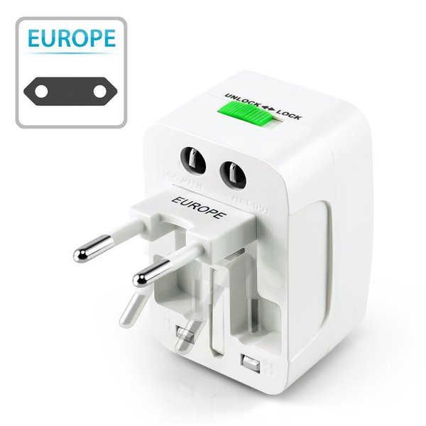 top popular 50pcs Universal International Travel Adapter All in One AC Power Charger Adaptor with US EU UK AU Converter Plug 2020
