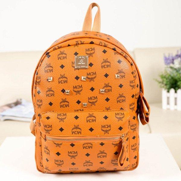 Fashion Brand Designer Backpack Double Shoulder Bag PU Leather Outdoor Traveling Letter Printed Schoolbags for Women Students Backpacks