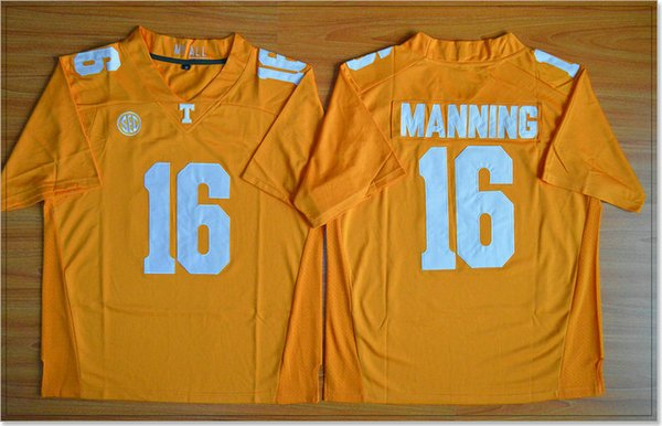 5f5d1e25c Tennessee Volunteers  16 Peyton Manning Vintage Mens College American  Football Sports Pro Team Jerseys Cheap Stitched Embroidery For Sale