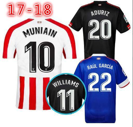 wholesale 2017 2018 Athletic Bilbao Home Soccer jersey 17 18 SUSAETA  GURPEGUI MUNIAIN away third football 9290350de83bc