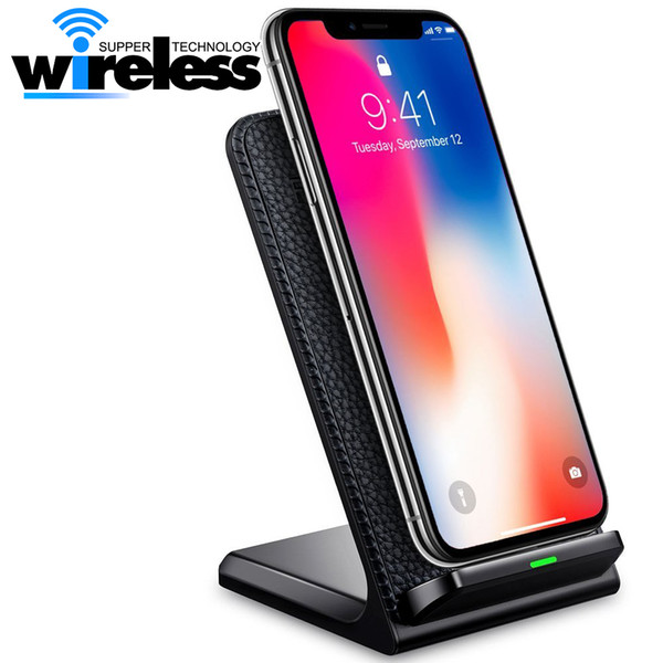 best selling for Ip Xs Max Xr Fast Qi Wireless Charger stand pad phone charger For Samsung S8 note8 Qi enabled Smartphones
