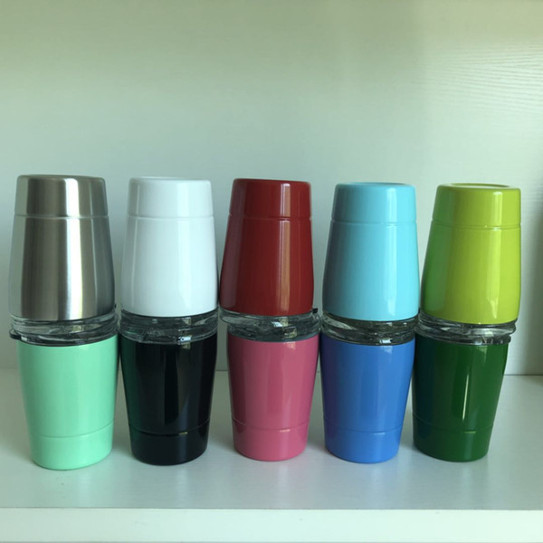 best selling 9oz Wine Tumbler Stemless Stainless Steel tumbler cup 9oz kid mug With lid and straw
