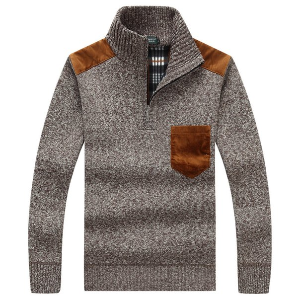 Solide Couleur Pull MenSweater Homme Chemise à manches longues Pulls Hommes laine Robe Casual Marque cachemire Maille Pull Homme