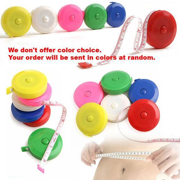 top popular 100 150CM Mini Measuring Tape Measure Retractable Metric Belt Colorful Portable Ruler Centimeter Inch Children Height Ruler 2021