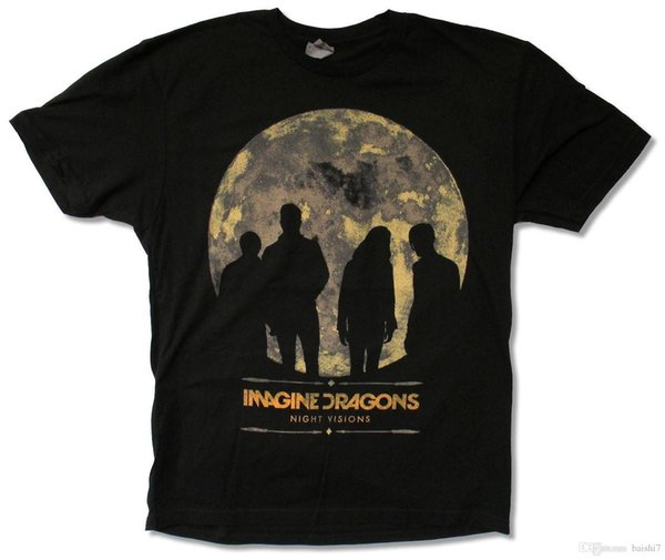 """""""NIGHT VISIONS TOUR 2013 (CHAR-VEGAS)"""" BLACK T-SHIRT NEW ADULT Clothing Tops Hipster Fashion top tee"""