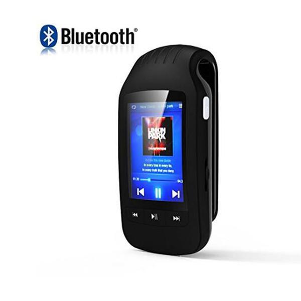 Clip Sport MP3 8GB MU1037 Unterstützung Sport Schrittzähler Bluetooth FM Radio w / TF Kartensteckplatz 1.8